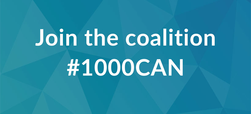 Join the #1000CAN coalition