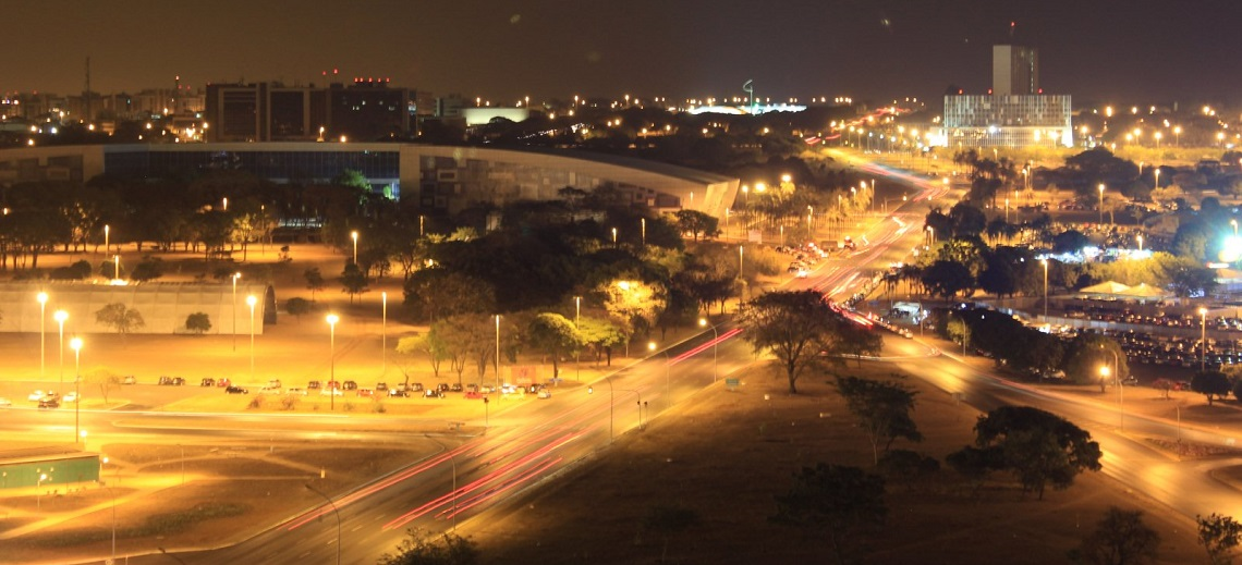 Brasília, Brazil by night. Photo by Carlos Reis/Flickr.