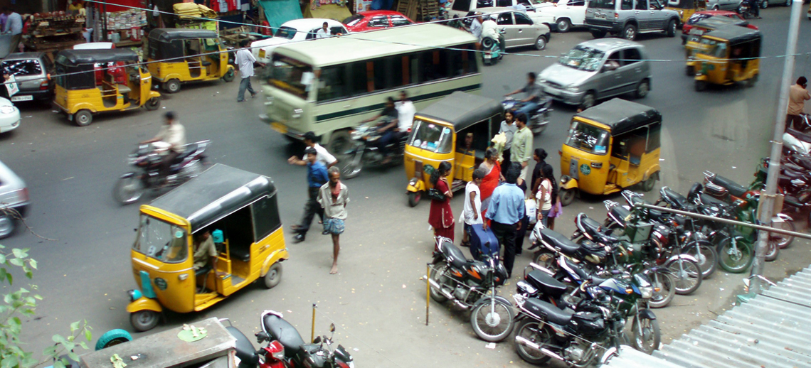 Streetscape in Chennai, India. Photo by Matthieu Aubry/Flickr.