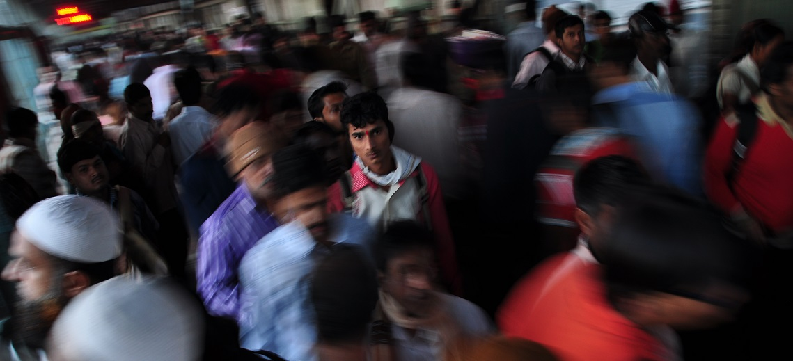 Thane Railway Station, Mumbai, India. Photo by Prasad Kholkute/Flickr.