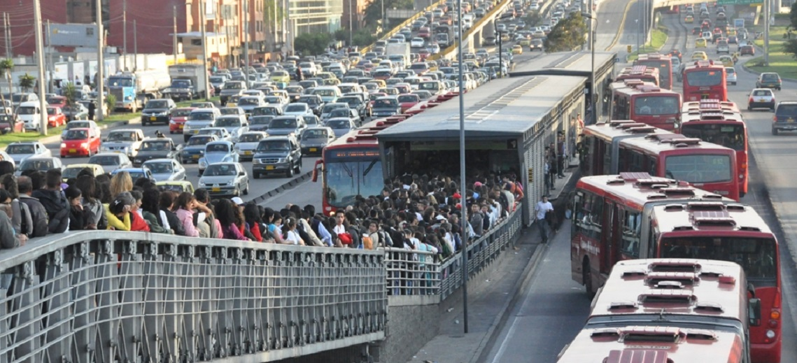TransMilenio BRT in Bogotá, Colombia. Photo by Carlos Felipe Pardo/Flickr.