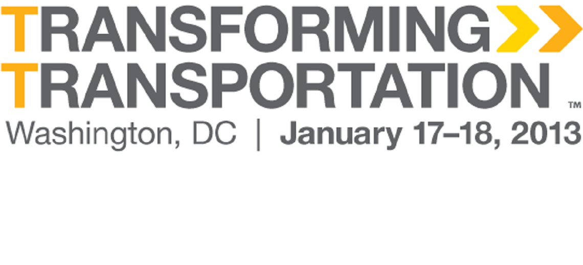 Transforming Transportation 2013 logo. Photo by EMBARQ.