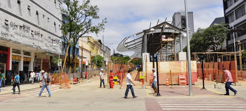 Future site of Belo Horizonte's MOVE BRT system. Photo by Mariana Gil/EMBARQ Brazil.