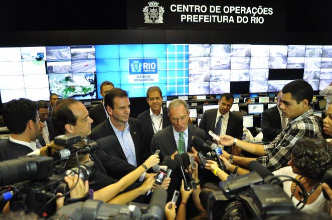 Mayor Bloomberg of New York in the COR, Rio de Janeiro. Photo: Mariana Gil / EMBARQ Brazil