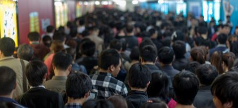 Guomao subway station in Beijing, China. Photo by Jens Schott Knudsen/Flickr.