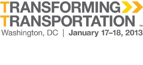 Transforming Transportation 2013 logo. Photo by EMBARQ.