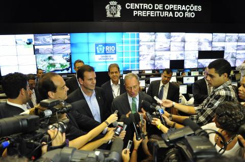 Mayor Bloomberg of New York in the COR, Rio de Janeiro. Photo: Mariana Gil / EMBARQ Brazil