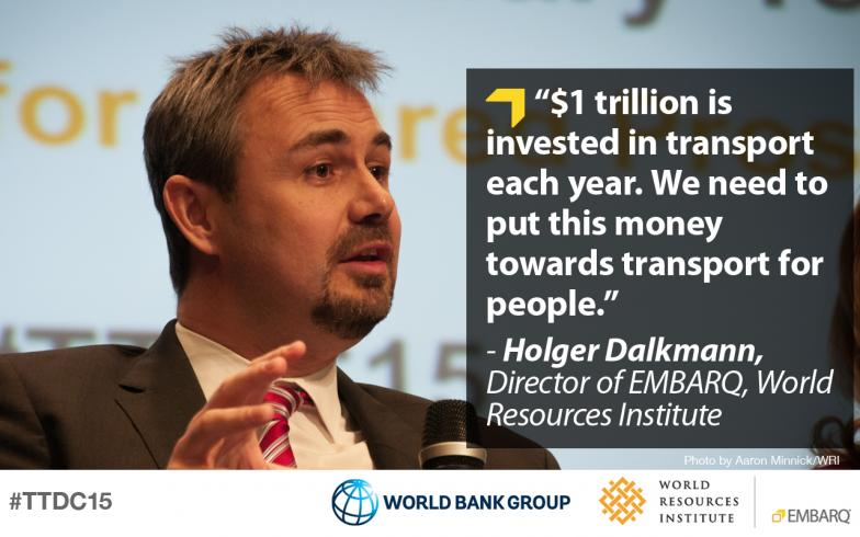 Holger Dalkmann, World Resources Institute, Transforming Transportation 2015