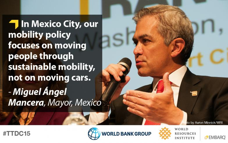 Miguel Ángel Mancera, Mayor, Mexico City, Transforming Transportation 2015