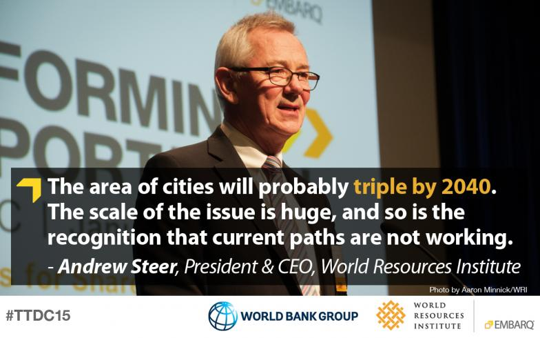 Andrew Steer, World Resources Institute, Transforming Transportation 2015