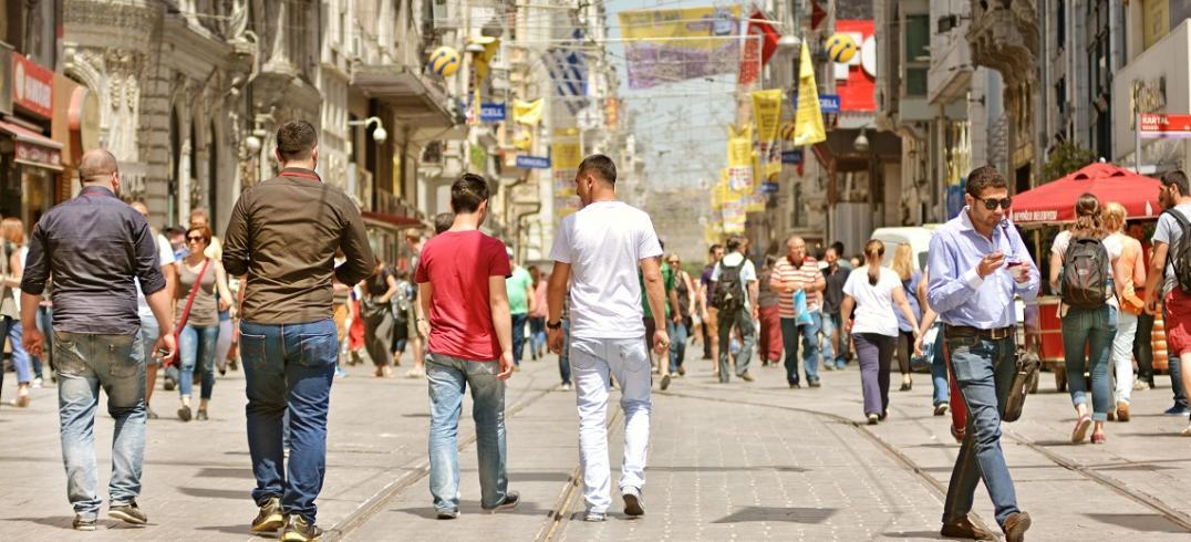 Revitalized public space in Istanbul, Turkey. Photo by Ozgur Guvenc/Shutterstock.