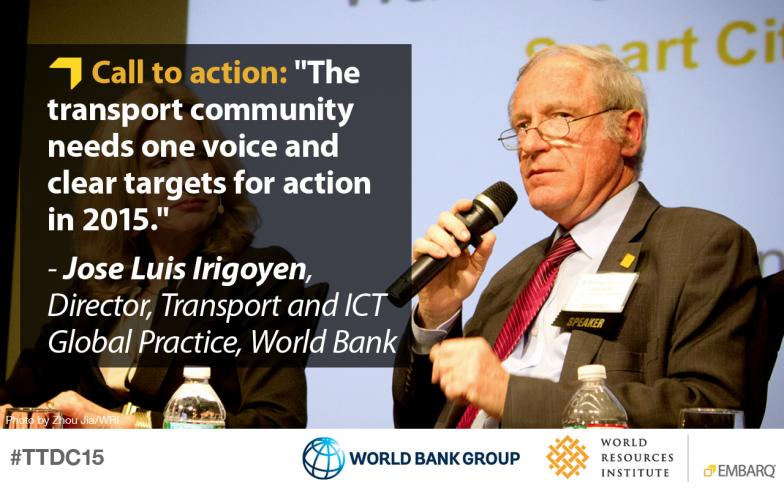 Jose Luis Irigoyen, World Bank, Transforming Transportation 2015