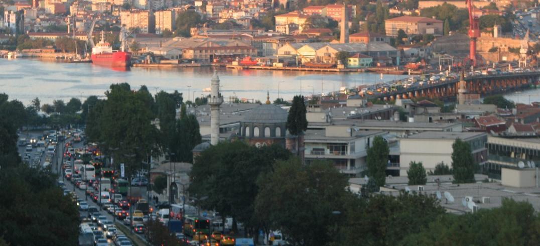 Traffic clogs Ataturk Boulevard - Istanbul, Turkey. Photo by Jon Anderson/Flickr.